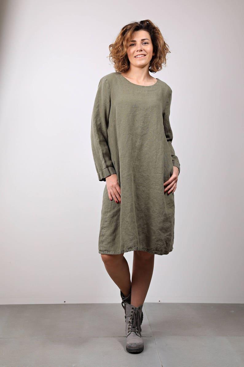 7d12604739 Linen dress. Oversize dress.Linen dress. Long sleeve dress.