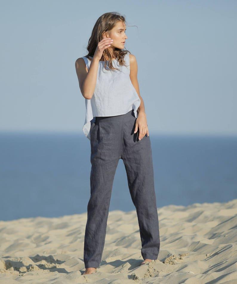 8a0853412e9a2 Linen pants / Comfortable eco friendly straight summer linen | Etsy