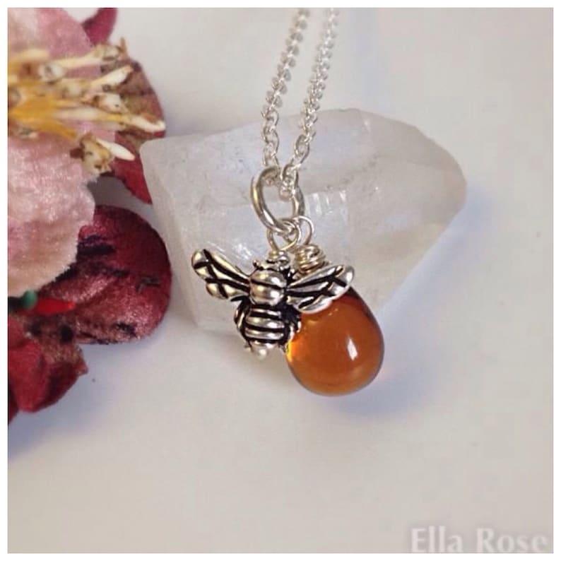 Silver Honeybee Necklace
