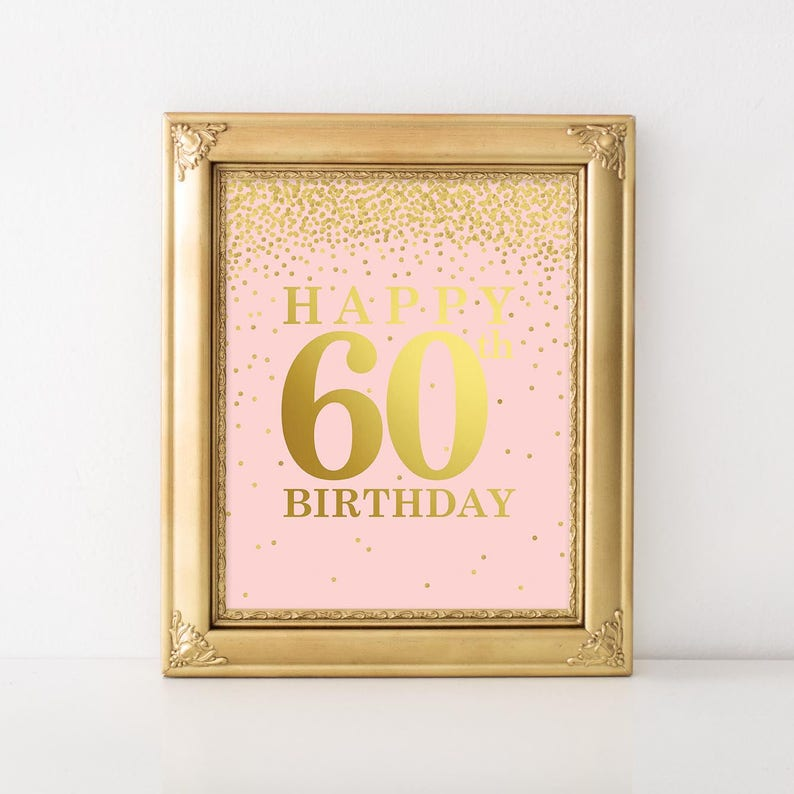 60th Birthday For Her Happy