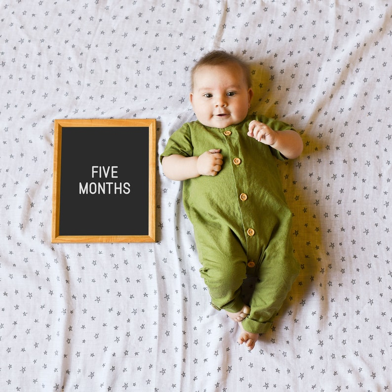 photograph regarding Printable Baby Month Signs identify Child Milestone Indicator, Little one Thirty day period Signs and symptoms Printable, Little one Initially 12 months Signal, Little one shower present, Infant image prop, Gender impartial, 5x7 and 8x10