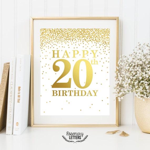Happy 20th Birthday Printable Decor