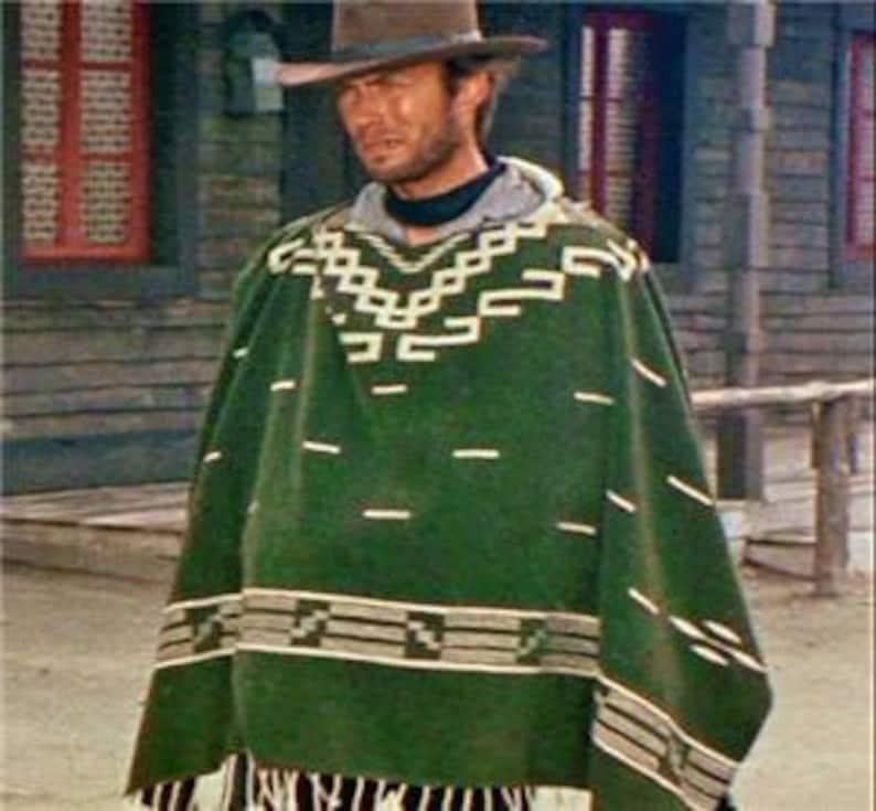 3ebe9c366c75f Clint Eastwood Style Spaghetti Western Cowboy Poncho Costume