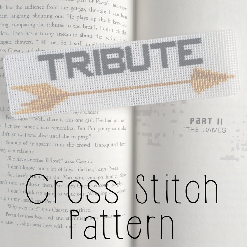 Hunger Games Tribute Bookmark Cross Stitch Pattern