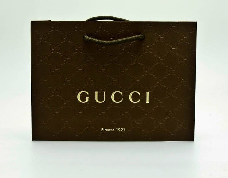 c768e8b0574 New Authentic Gucci Shopping Bag-9x6 Medium Paper Shopper