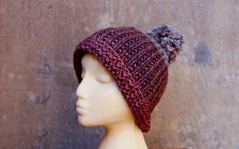 b556d9311fbbc Knit hat Men Knit Hat Women Warm Thick Winter Beanie Hand