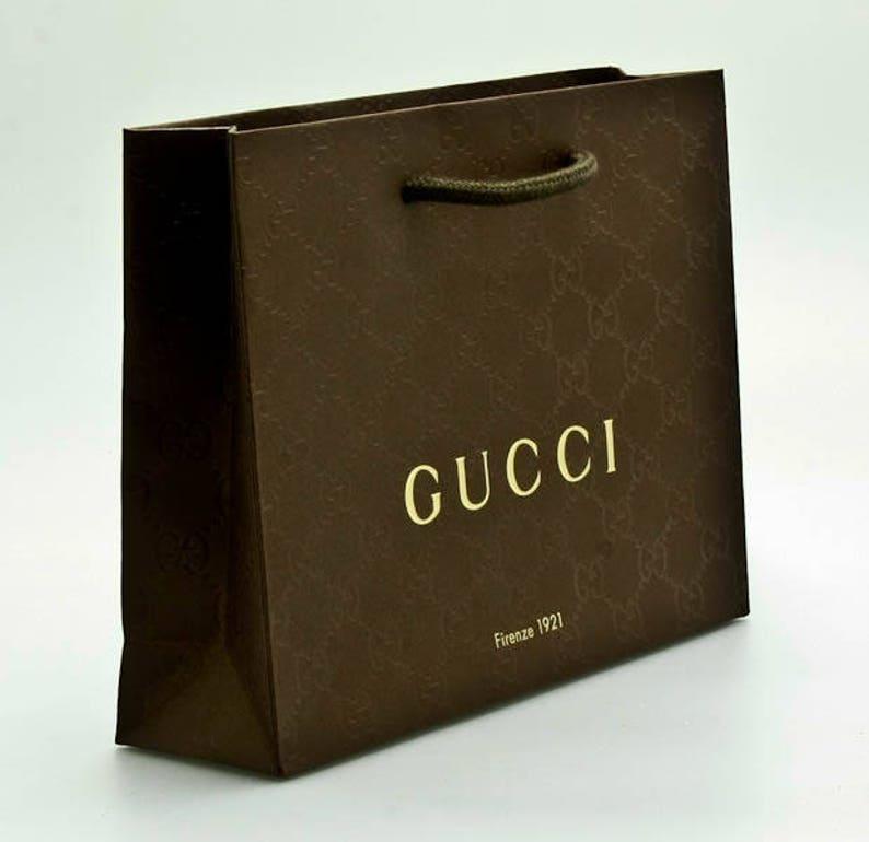 c768e8b0574 New Authentic Gucci Shopping Bag-9x6 Medium Paper Shopper