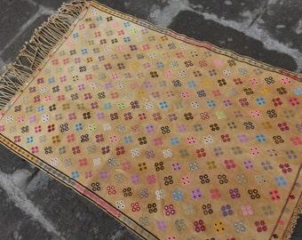 turkish kilim rug vintage kilim rug Adana Cicim Rug, KILIM RUG , RUG ,Kilim Embroidery Rug , Colorful Cicim Rug , Nice Home Decor Rug