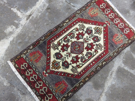 Turkish Area Rug Mat 1 7x3 2 Ft Rug Rugs Door Mat Anatolian Etsy