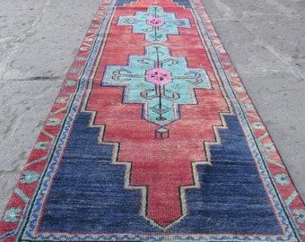 Blue Runner Rug turkish Vintage rugs 2.3x6.6 ft carpet runner Kitchen rug Decor Boho carpet runner Tapis RUG