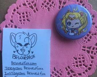 "Sailor Moon 1.5"" button"