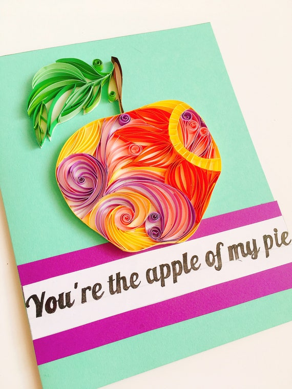 Apple cardquilling appleapple cards paper craftsquilling etsy image 0 m4hsunfo