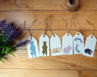 Animal Gift Tags // Recycled with Twine