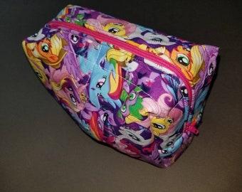 My Little Pony/Friendship is Magic/Spike/Pinkie Pie/Fluttershy/Applejack/Rarity/Princess Celestia/Rainbow Dash/Twilight Sparkle toiletry bag