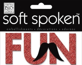 me & my BIG ideas Soft Spoken Themed Embellishments, Mustache Fun RJ2-14-SS