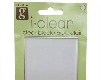 Studio G - i.clear - Clear - Acrylic Block for Stamping RJ3-9-AB