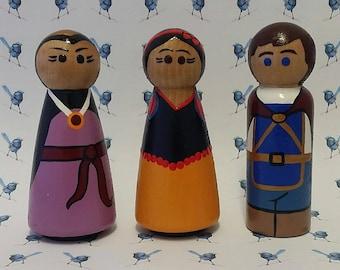 Wooden Peg Dolls - Snow White & the Seven Dwarves