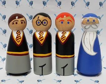 Wooden Peg Dolls - Harry Potter