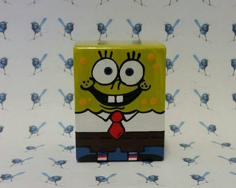 Handpainted Wooden Peg Dolls - Spongebob Square Pants