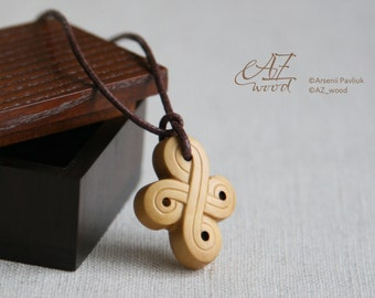 Wood Cross Necklace - Wooden Cross Pendant - Hand Carved Wood Cross Pendant - Christian Jewelry