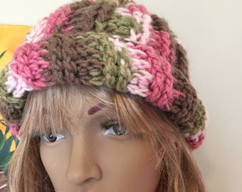 Cameo Ribbed Beanie with PomP