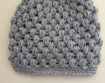 Adult Ponytail Crochet Hat