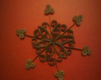 Beautiful Gold Quilled Snowflake