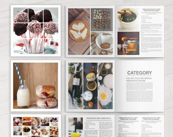 cookbook template etsy