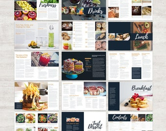 Cookbook Template Etsy - Adobe indesign cookbook template