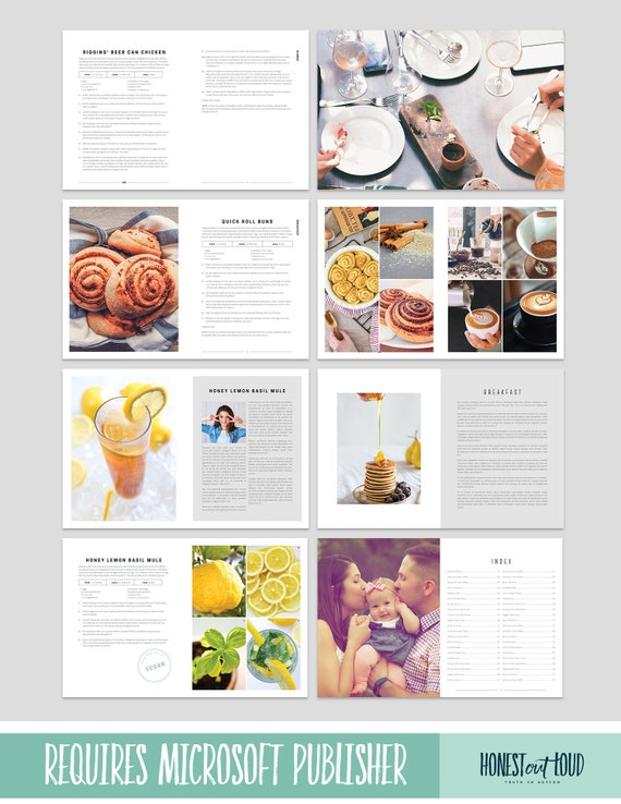 cookbook and recipe template for microsoft publisher instant etsy