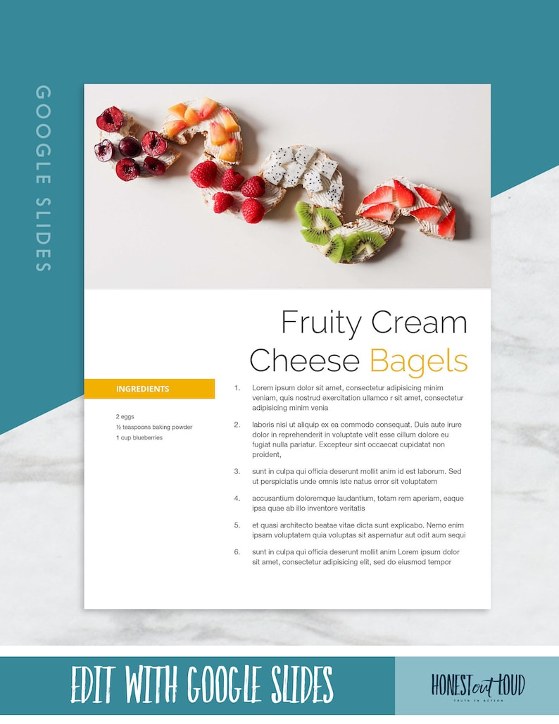Recipe book template able