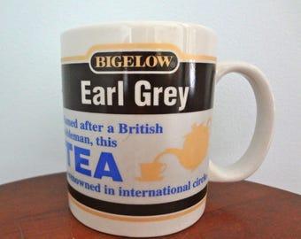Bigelow Earl Grey Tea/Coffee Mug Circa early 1990s