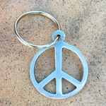element13 - Solid Aluminum Peace Sign Keychain - Made from Recycled Aluminum