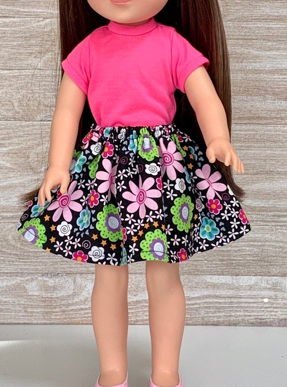 Cute Mouse Casual Clothes for 14/'/' AG American Doll Wellie Wishers Doll Pink