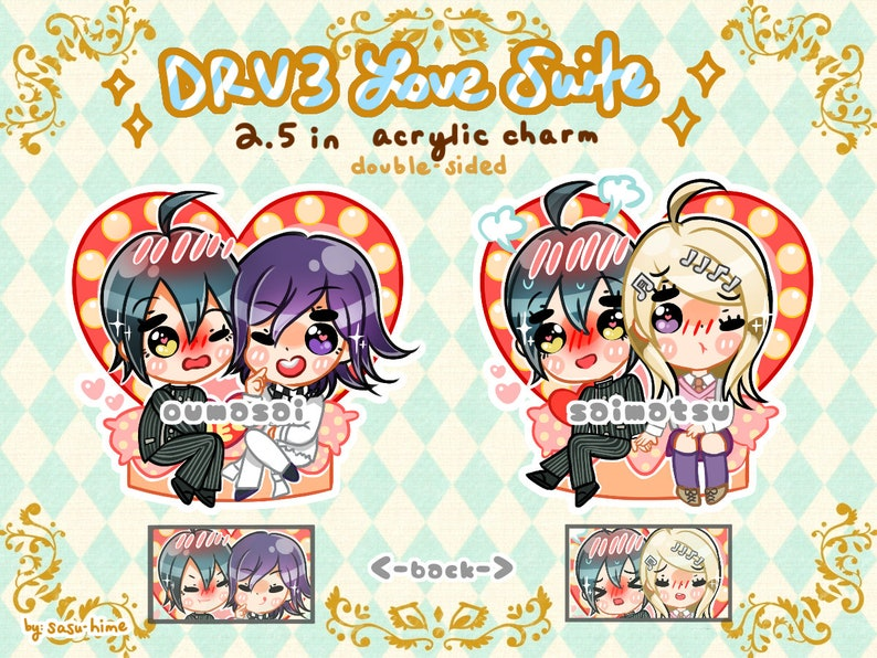DRV3 Love Suite Acrylic Charms image 0