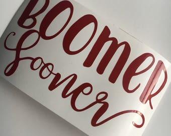 Oklahoma Sooners sticker   University of Oklahoma   Boomer Sooner   OU   vinyl   decal   sticker   Yeti   laptop car window