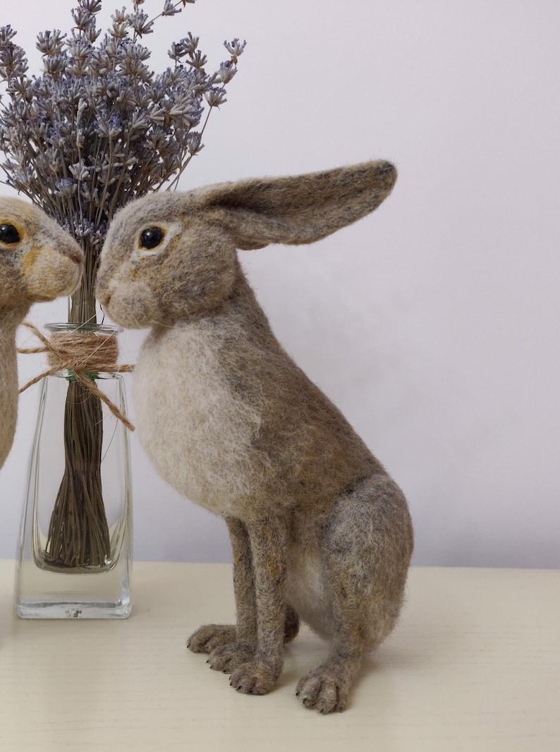 Felted rabbit Felted animals Needle felted hare Easter rabbit Needle felt bunny Needle felt rabbit Wool sculpture Felted bunny Easter bunny