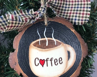 73822cc545c1b Coffee cup ornament | Etsy