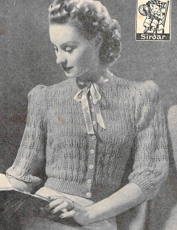Lacy Bed Jacket Vintage Knitting Pattern Etsy
