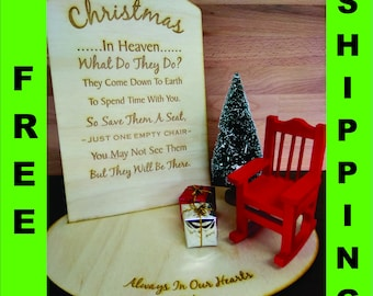 Christmas In Heaven Poem With Chair Printable.Christmas In Heaven Etsy