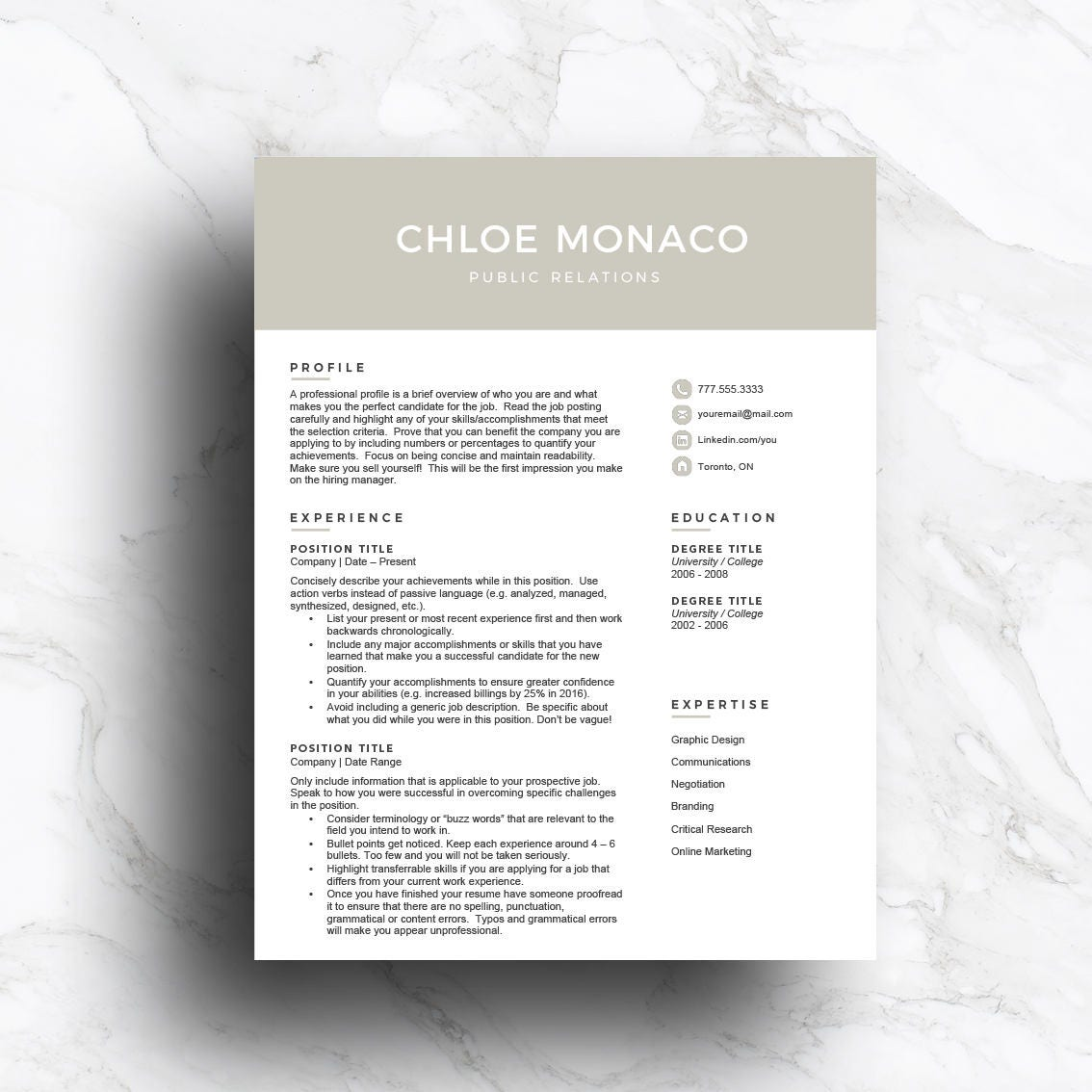 gray cv template for word  u0026 pages 1 2 3 page with cover