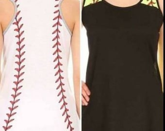Baseball Sleeveless Tee Shirt