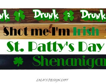 Shot Ski, Shotski, Shot Board, St. Patty's Day, St. Patricks Day, Drinking Game, Bachelorette Party, Bachelor Party, Add Light Up Shot Glass