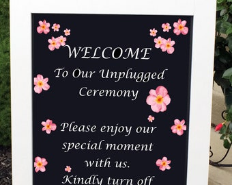 Unplugged Wedding Sign, Unplugged Sign, Wedding Signs, Rustic Wedding Sign, Wedding Decor, Custom Wedding Sign, Wedding Decorations