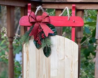 Christmas Sled Decor Etsy