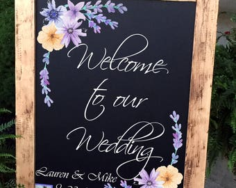 Wedding Welcome Sign, Wedding Sign, Monogram Wedding Sign, Rustic Wood Wedding Sign, Wood Wedding Sign, Personalized Wedding Sign