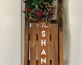 decorative wooden sled holiday decor christmas sled wood sled christmas decoration personalized sled decorative welcome sled - Decorative Christmas Sleigh Sale