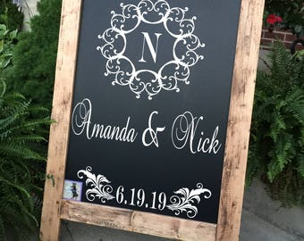 Wedding Welcome Sign Wedding Sign Monogram Wedding Sign Rustic Wood Wedding Sign Wood Wedding Sign Personalized Wedding Sign