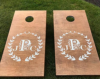 Cornhole Decal Set, Wedding Decals, Personalized Corn Hole Decal, Personalized Wedding Decals, Corn Hole Decal, Custom Corn Hole Decal