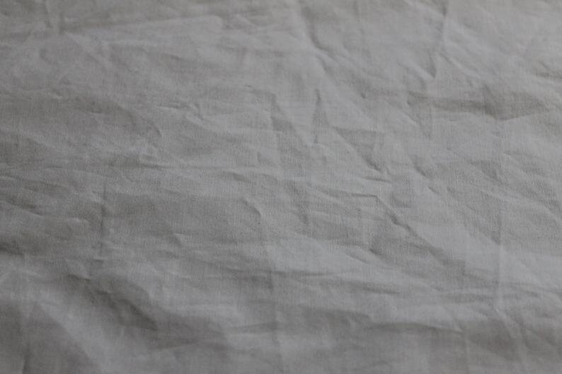 Upcycled Fabric Eco Friendly and Sustainable Reclaimed White Cotton and Polyester  Cotton Blend Fat Quarters